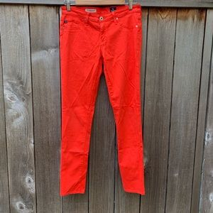 AG Adriano Goldschmied coral color pants, 27R.